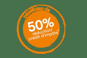 50% Crédit d'impôts